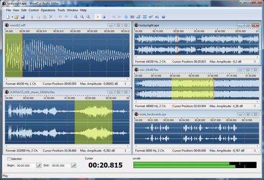 бесплатные аудио редакторы